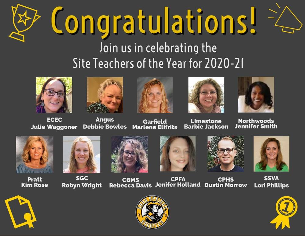 Teacher of the Year Teachers Announced for 2020-21