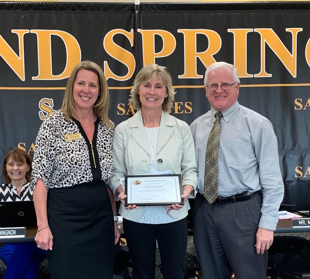 Sandite Teacher of the Year Andrea Campfield Recognized