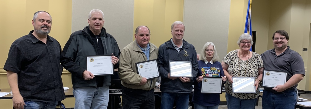 Renee Nance, Joanne Parker, Roger Anderson, Gary Dusina, Kevin Smith and Sean Parker Received the Sandite Pacesetter Award