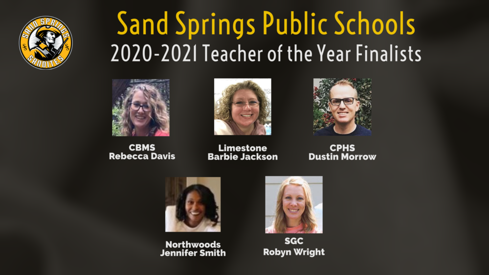Congratulations to our Final Five Teacher of the Year Candidates