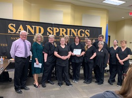 School Board Recognizes Windy Garell and CPHS Cafeteria Staff