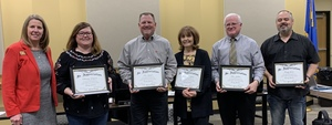 Supt. Durkee Surprised Board Members with Certificate of Appreciation at Board of Education Meeting