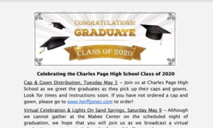 Graduation Information for the Class of 2020