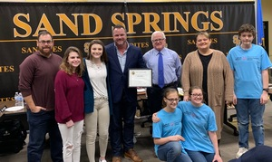 Pacesetter Award Granted for Support of Special Olympics