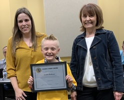 LANDON DURBUROW RECEIVES SANDITE SPIRIT AWARD
