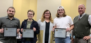 CPHS Students Will Bouchard, Brooke Hester and Jasper Adams Receive Sandite Spirit Award for Academic Excellence