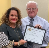 Tirita Montross Received Pacesetter Award at October Board Meeting