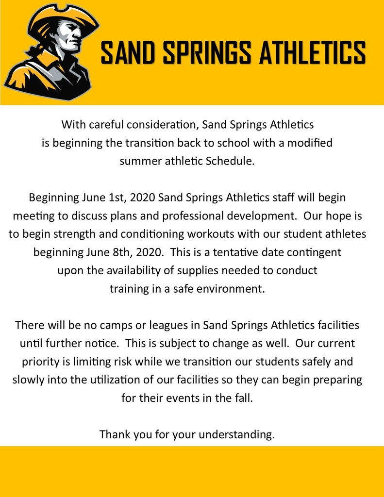 Sandite Athletics Phases into Summer Schedule